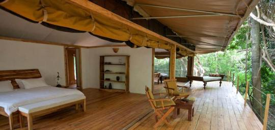 Rhino River Camp Rates | Rhino River Lodge | Meru National Park Safaris | Accommodation Hotels- Ikweta Safari Camp, Elsa's Kopje Lodge, Rhino River Camp, Leopard Rock Lodge, Bandas